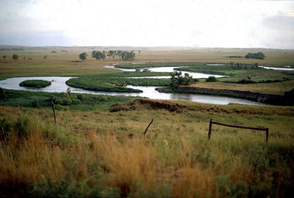 Middle Loup River, spring 1981, in a drizzle