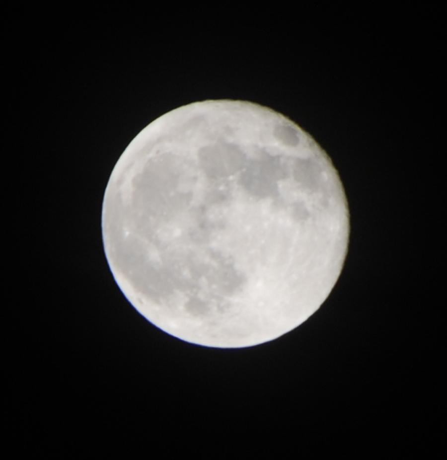 Full silver moon-focus a bit fuzzy.