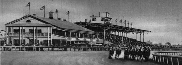Thistledown racetrack in Cleveland with the ponies running.